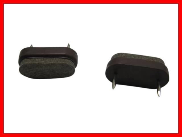 20 x filzgleiter m belgleiter stuhlgleiter kunststoff braun oval mit nagel ebay. Black Bedroom Furniture Sets. Home Design Ideas