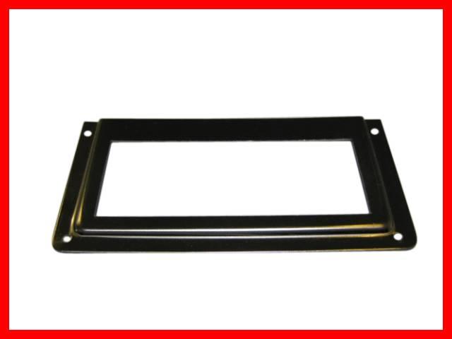 27 x etikettenrahmen metall vernickelt apothekerschrank edelstahl optik 58x43mm ebay. Black Bedroom Furniture Sets. Home Design Ideas