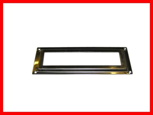 32 x etikettenrahmen metall vernickelt apothekerschrank edelstahl optik 59x20mm ebay. Black Bedroom Furniture Sets. Home Design Ideas