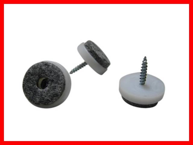 50 x filzgleiter m belgleiter stuhlgleiter zum schrauben schraube 24mm wei ebay. Black Bedroom Furniture Sets. Home Design Ideas