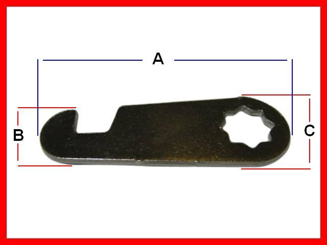 1 x Briefkastenschloss Briefkastenschlösser versch Schließung Länge 20mm Ø 19mm